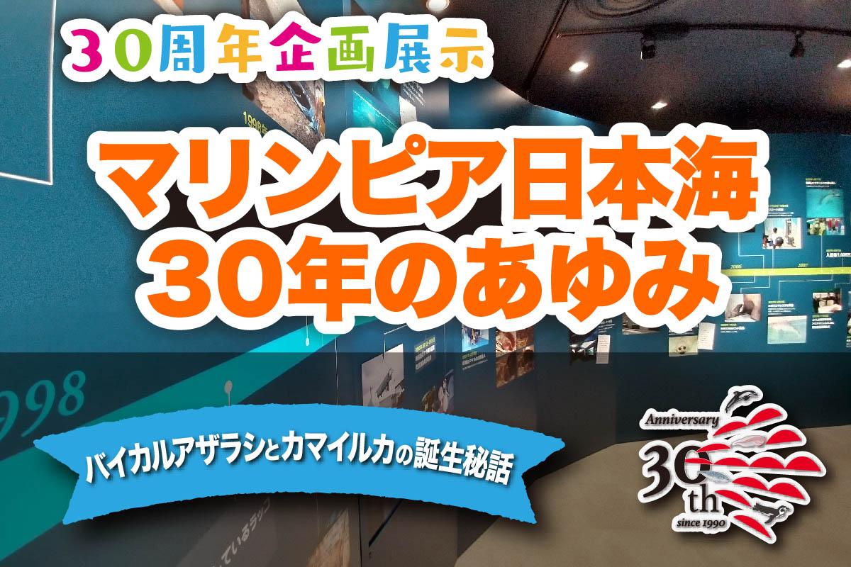 30周年 企画展示 「マリンピア日本海30年のあゆみ」(展示変更のため2/19まで休止中)